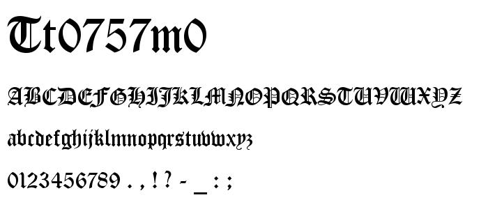 Tt0757m0 font