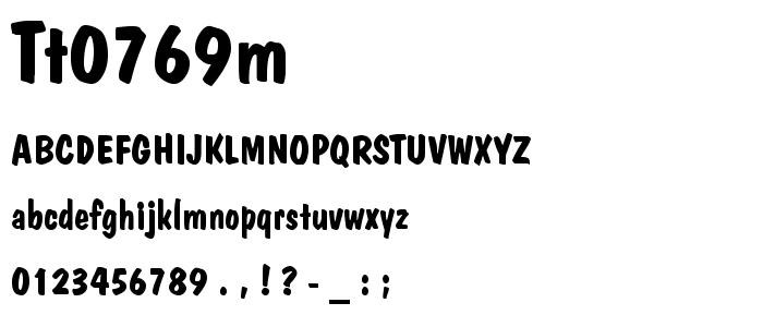 Tt0769m font