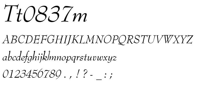 Tt0837m font