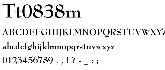 Tt0838m font