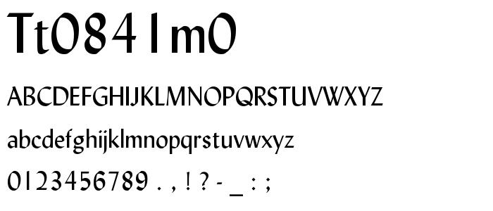 Tt0841m0 font