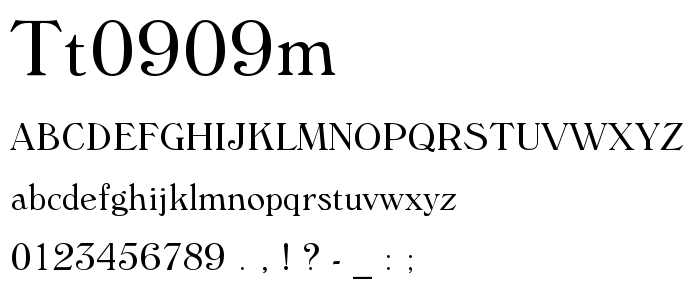 Tt0909m font