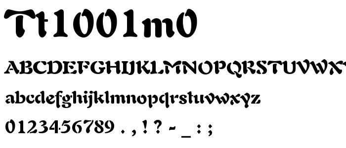 Tt1001m0 font