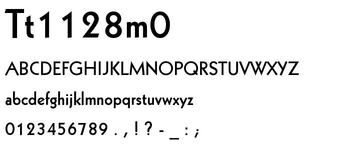 Tt1128m0 font