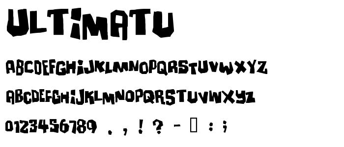 Ultimatu font