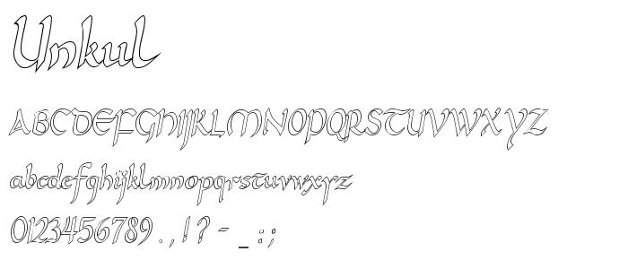 Unkul font