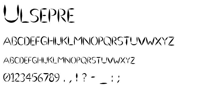 Ulsepre font