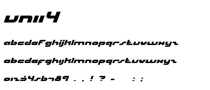 Unii4 font