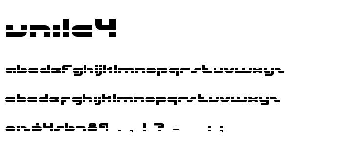 Unila4 font