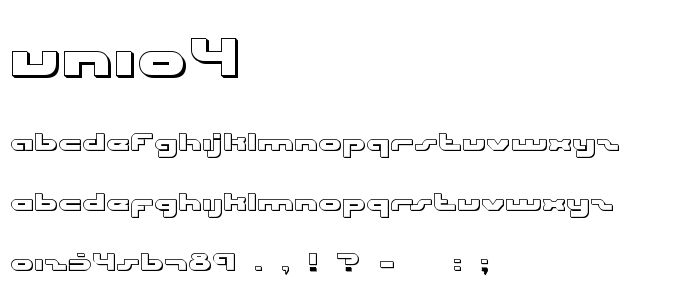 Unio4 font