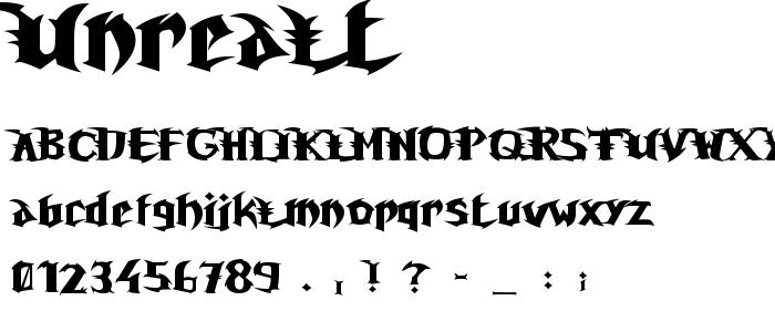 Unrealt font