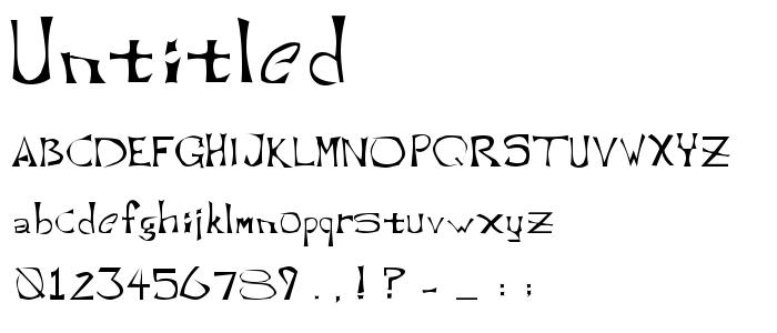 Untitled font
