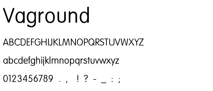 VAGROUND.TTF font