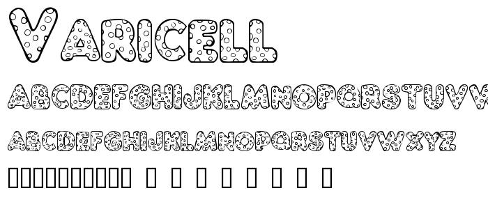 Varicell font