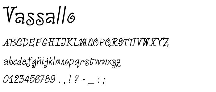 Vassallo font