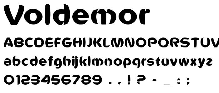 Voldemor font