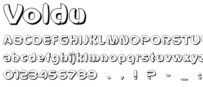 Voldu font