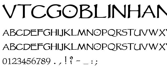 Vtcgoblinhand font