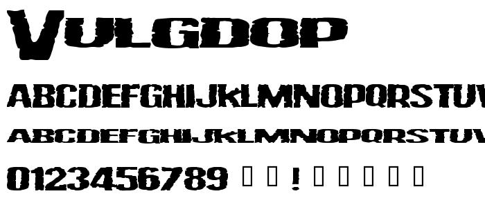 Vulgdop font