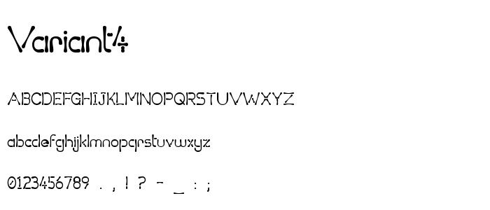 Variant4 font