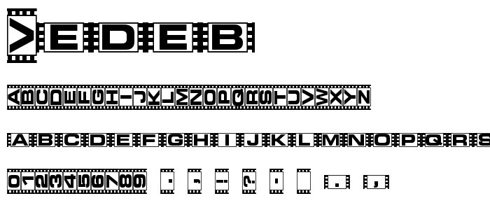 Vedeb font