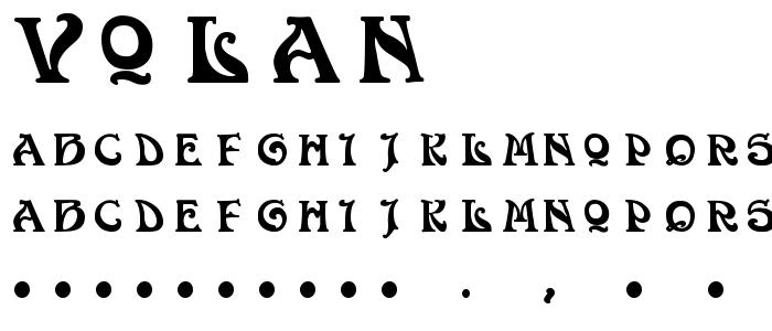 Volan font