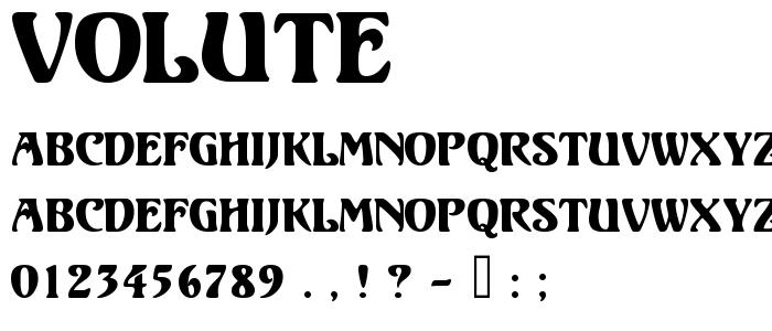 Volute font