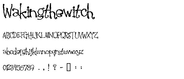Wakingthewitch font