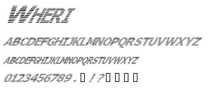 Wheri font