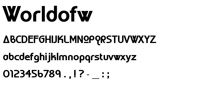 Worldofw font