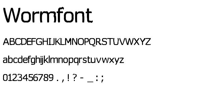 Wormfont font