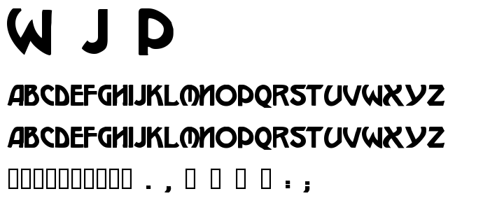 W J P font