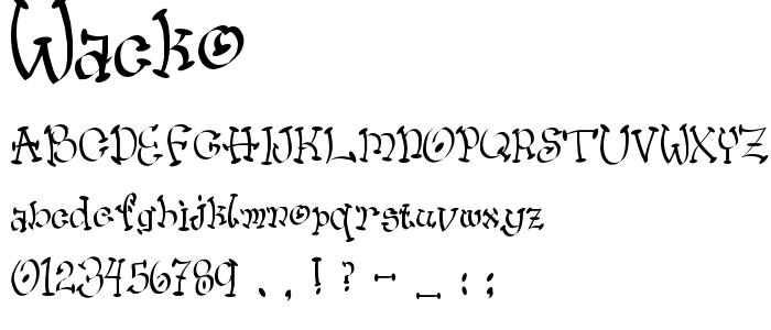 Wacko font