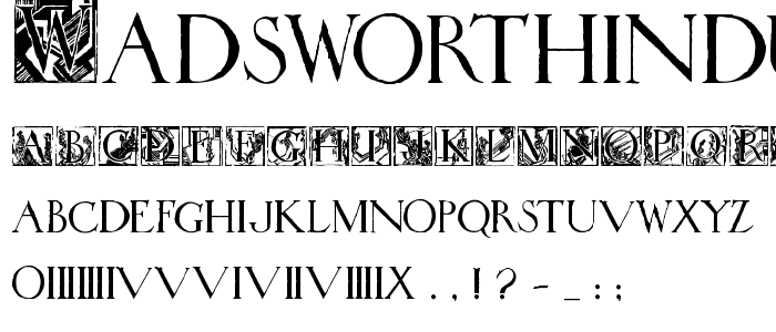 Wadsworthindustria font