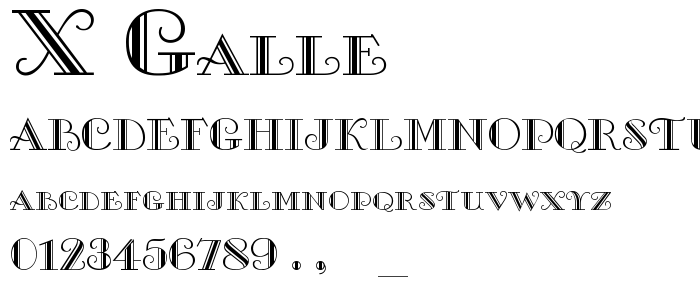X Galle font