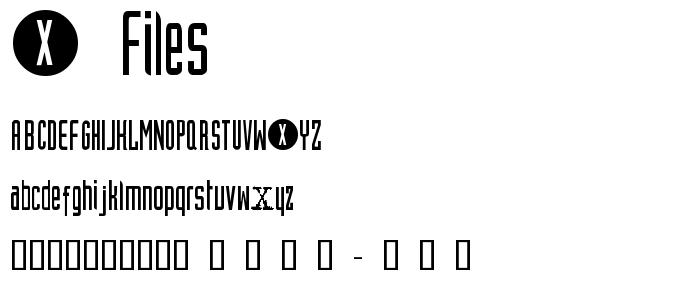 X_files.ttf font