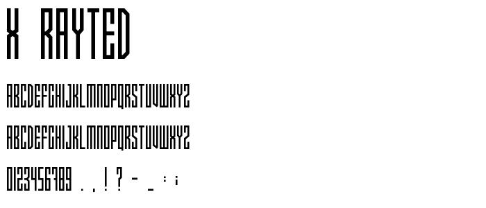 X_rayTed.TTF font