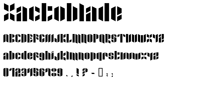 Xactoblade font