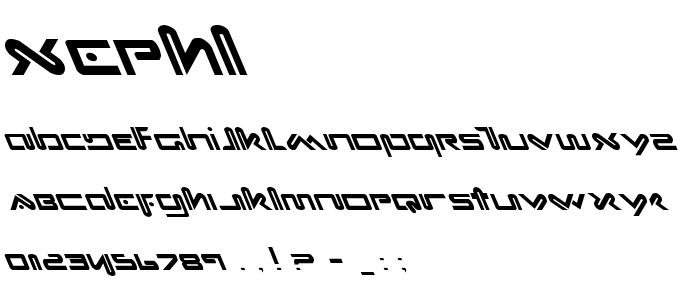Xephl font