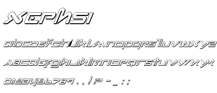 Xephsi font