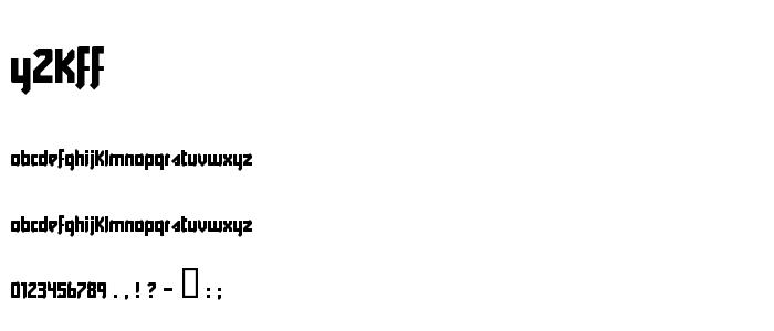 Y2kff font