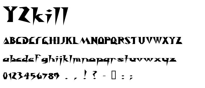 Y2kill font