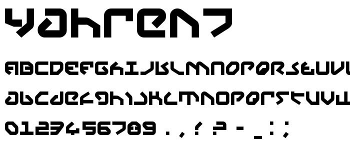 Yahren7 font