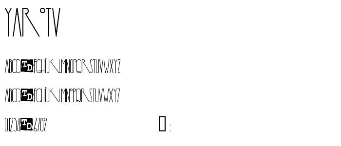 Yarotv font