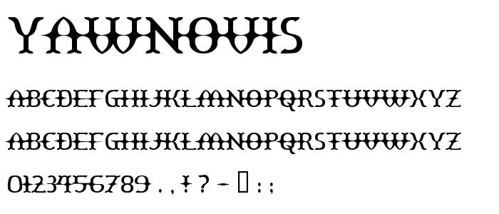 Yawnovis font