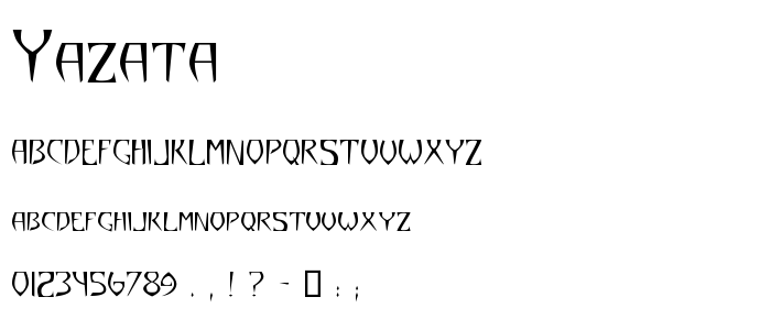 Yazata font