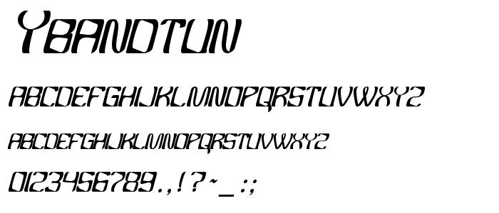 Ybandtun font