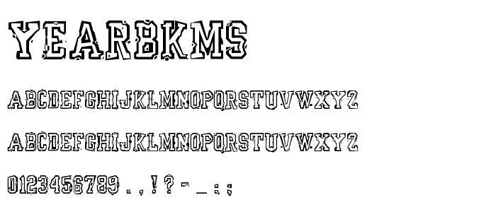 Yearbkms font