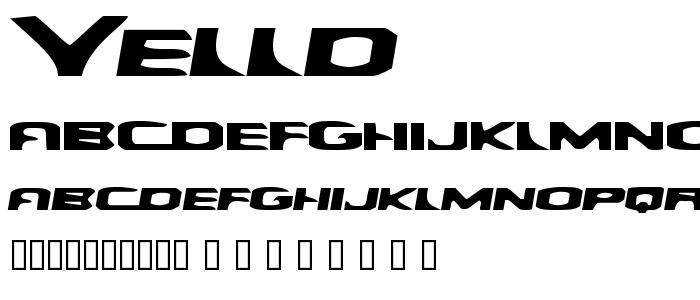 Yelld font