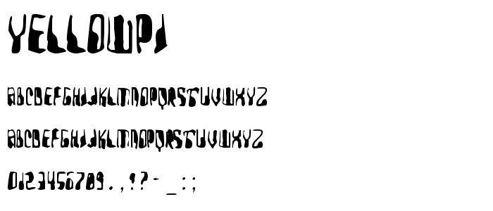 Yellowpi font